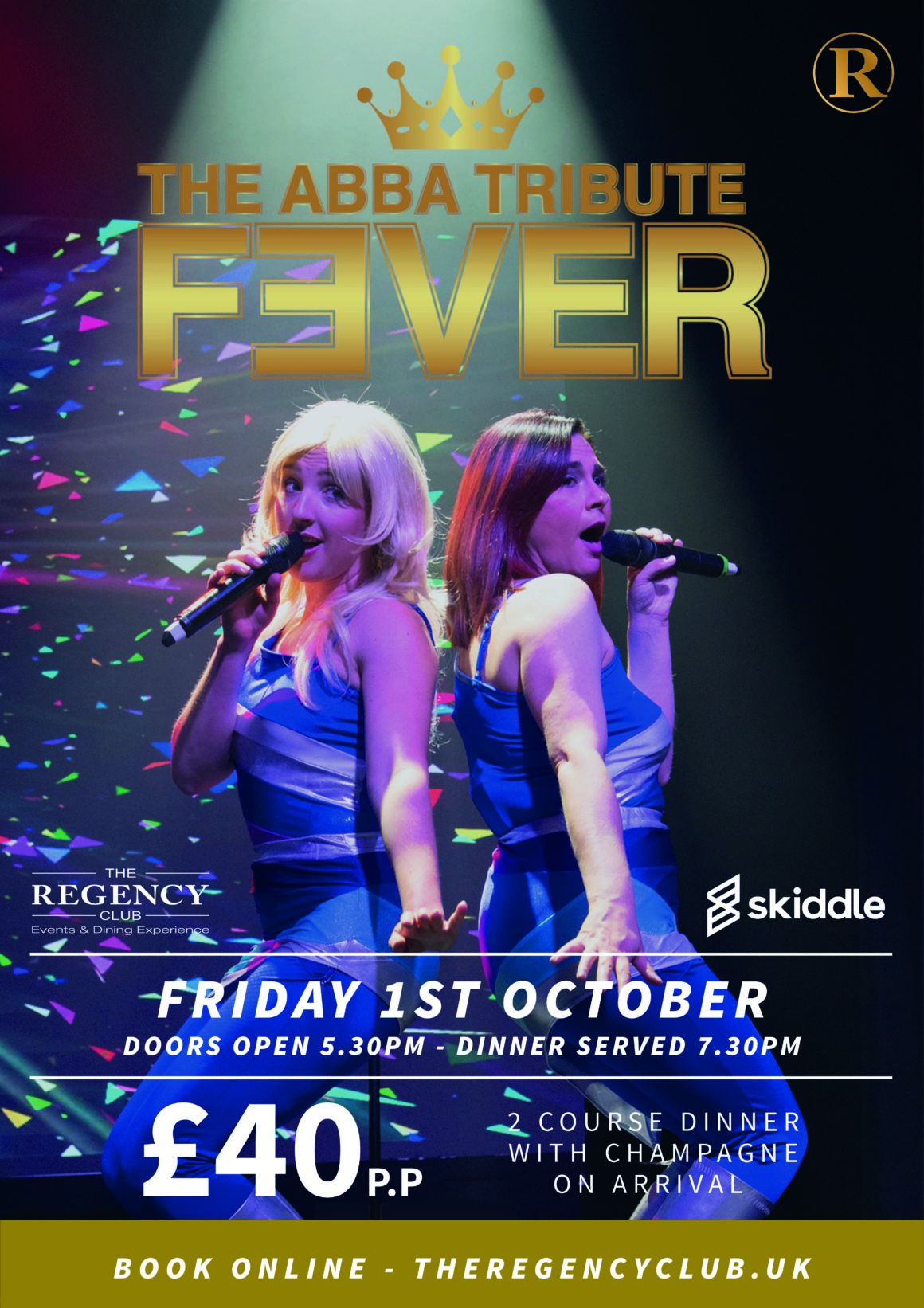 The ABBA Tribute FEVER – Fri 1 Oct