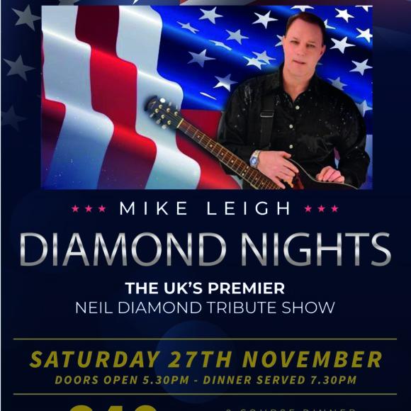 Neil Diamond Tribute Show – Sat 27 Nov
